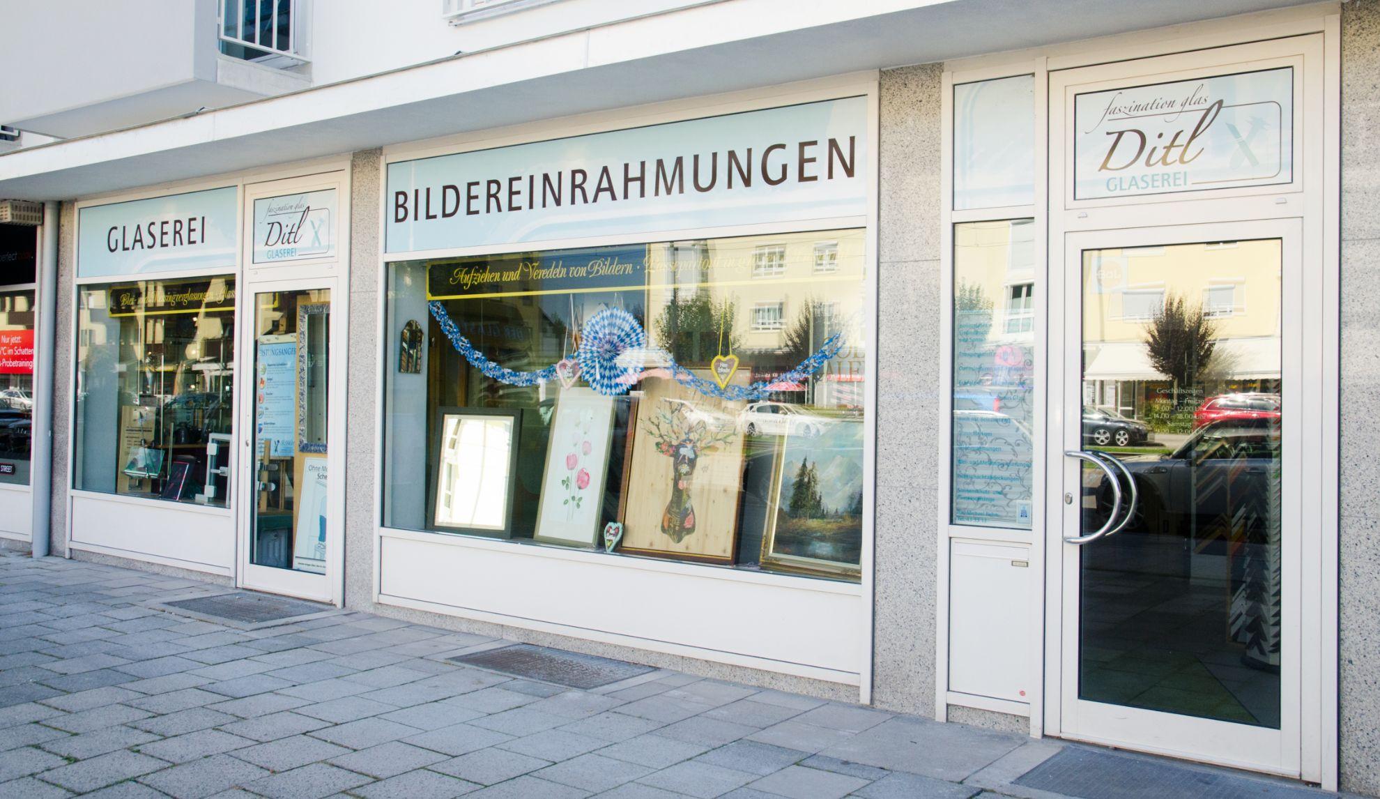 Geschäft der Glaserei Ditl
