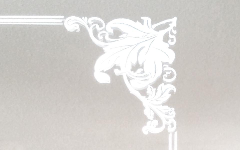 hinterleuchteter Wandspiegel